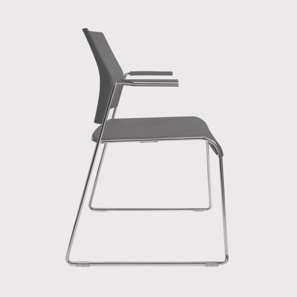 Allseating Tuck Stacker Chair With Arms