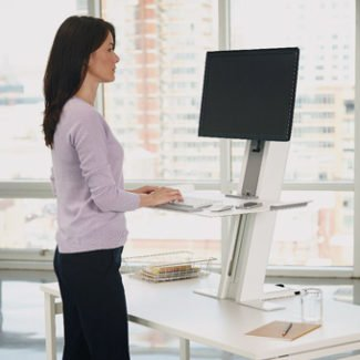 Humanscale Sit/Stand Keyboard Tray and Single Monitor Arm
