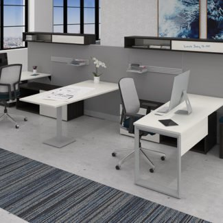 Lacasse Nvision Shared Pod of 4 with Collaboration Table