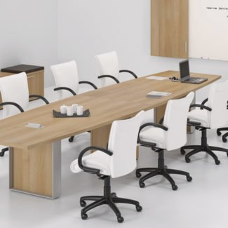 Lacasse Quorum Boatshape Conference Table