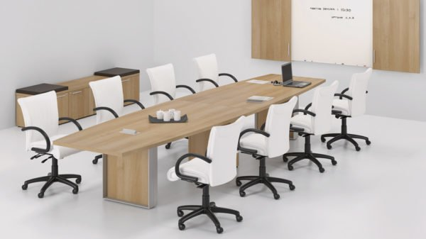 bootshape conference table