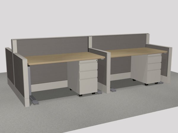 Haworth Pod of 4 Benching - With Height Adjustable Tables