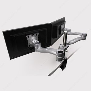 Richelieu Angled Double Monitor Arm