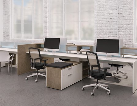 Bench workspaces are a refreshing alternative to conventional cubicles