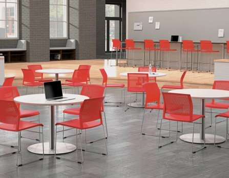 Café furniture for comfortable break rooms