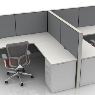 6X6 L-Shaped Station/Cubicles With 53