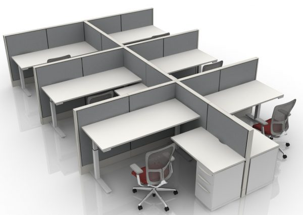 6X6 L-Shaped Height Adjustable Cubicles